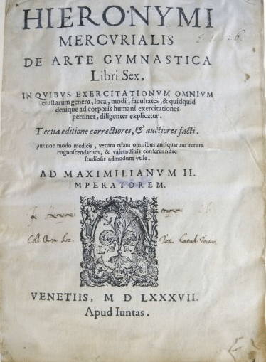 mercurialis de arte gymnastica book cover