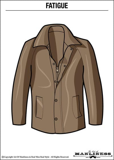 leather fatigue jacket illustration