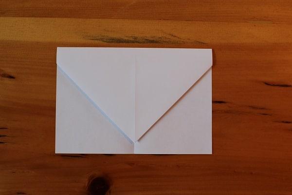 Step 3 — Fold top down so that it resembles an envelope.
