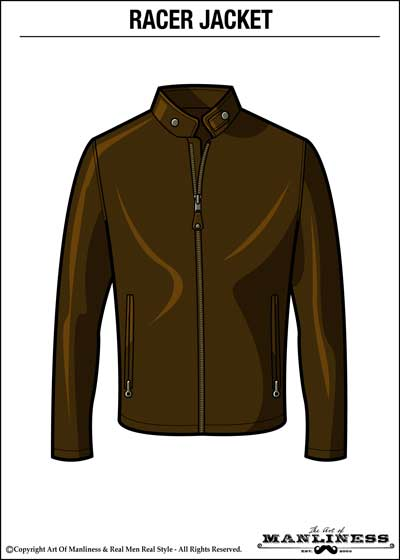 leather racer jacket illustration