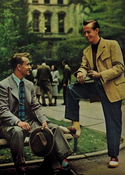 1948 college men dressed in blazers sports coats