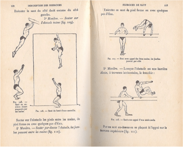early 1900s gym gymanstics textbook illustrations