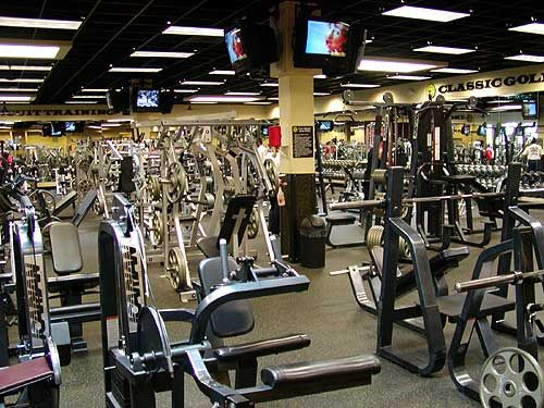 modern gym exercise machines