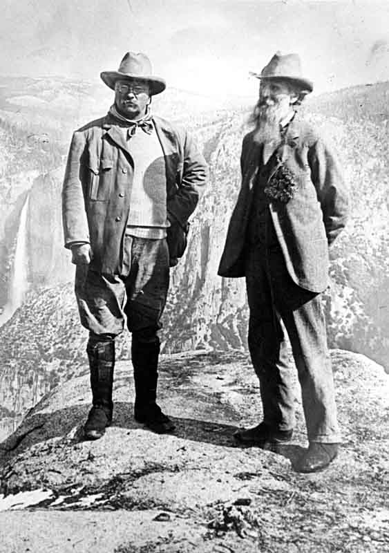 teddy theodore roosevelt with john muir yosemite valley