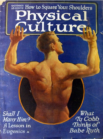 physical culture vintage magazine cover