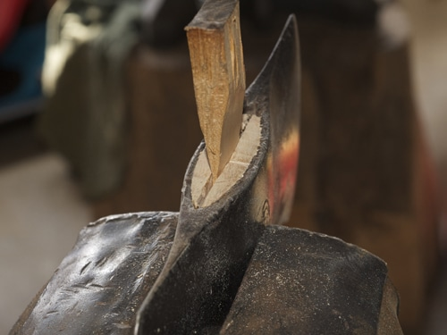 Diy ax handle adding wedge to top head.