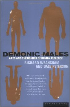 Book cover, demonic males by Richard Wrangham and Dale Peterson.