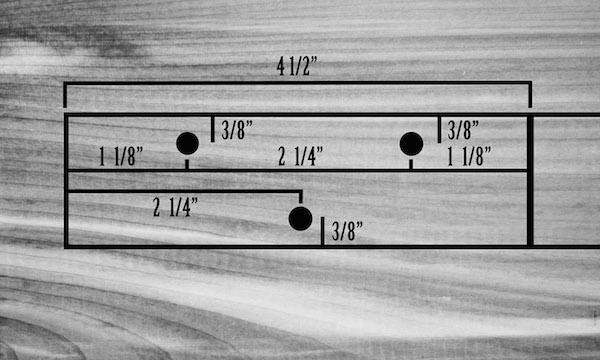 The measurements of cigar box illustration.