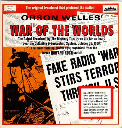 orson welles war of the worlds vintage poster original radio broadcast