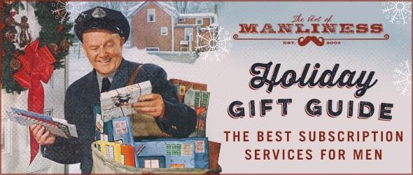 vintage mailman deliving packages on christmas illustration