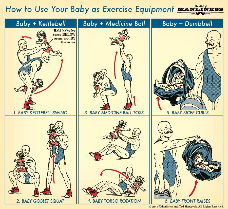 use baby as exercise equipment