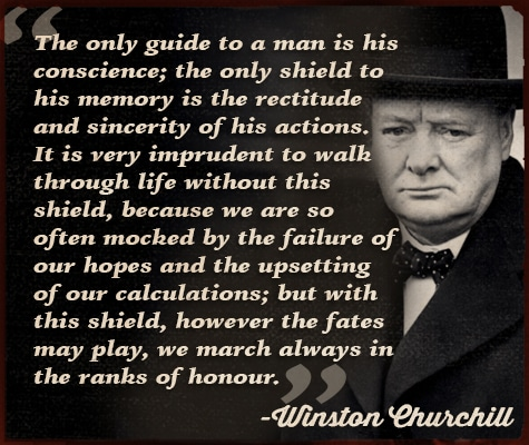 winston churchill quote guide to man is his conscience