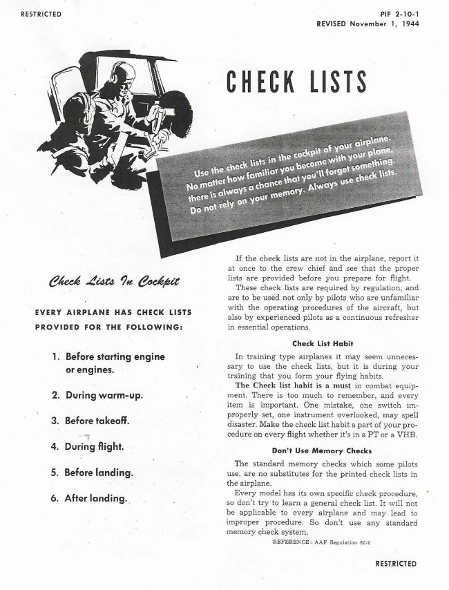 How And Why To Use Checklists | The Art Of Manliness