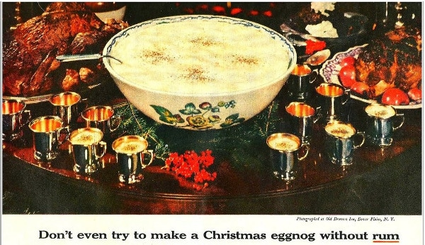 vintage ad advertisement eggnog rum cocktail