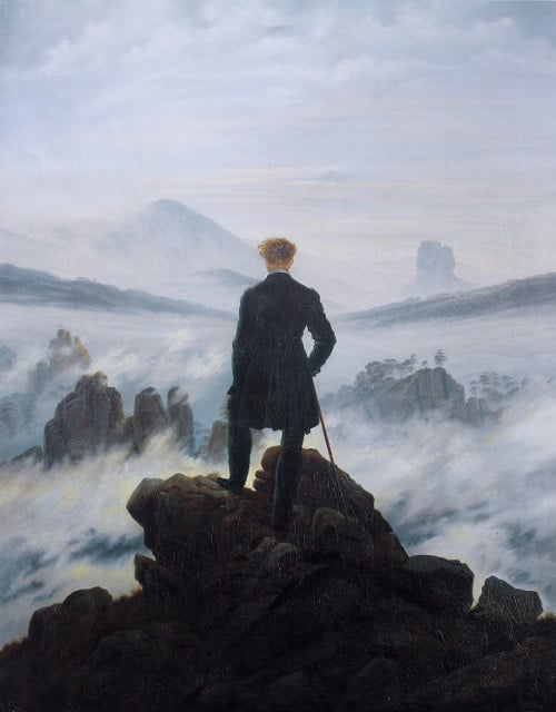 "Wanderer Above the Sea of Fog"" by Caspar David Friedrich"
