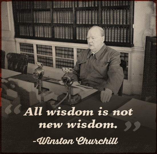 Quote by Winston Churchill Sitting in the library.