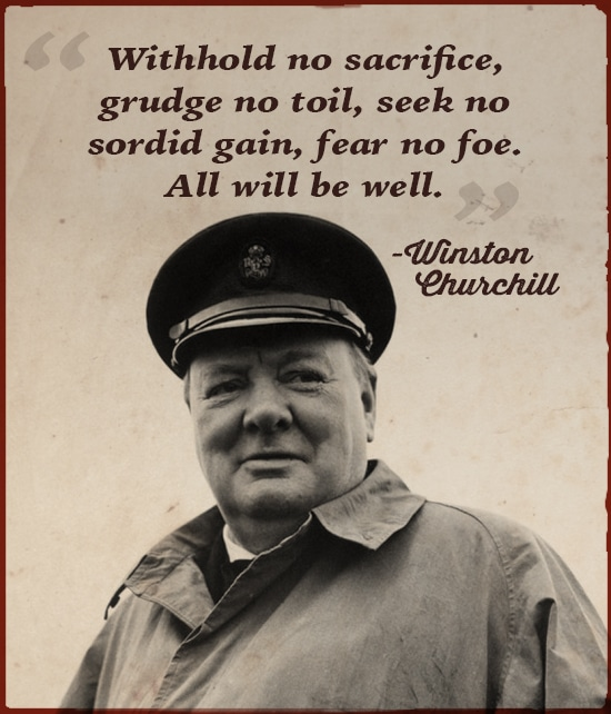 winston churchill quote withhold no sacrifice