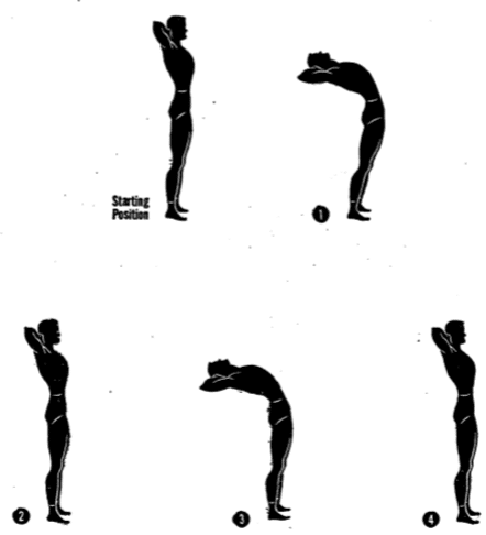 Army physical training back bender.