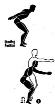 Army physical training high jumper.