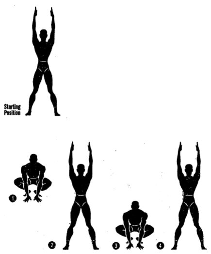Army physical training jumping jack 3.