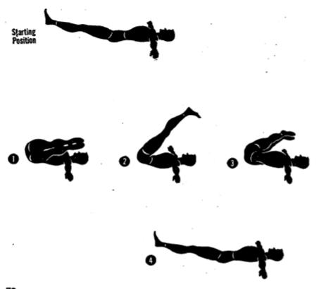 Army physical training leg circler.