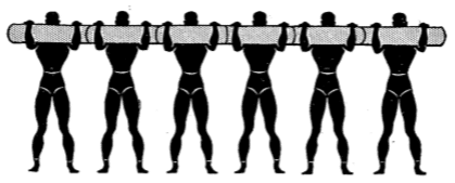 Army physical training Chest position 2.