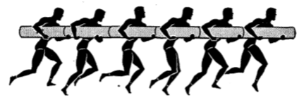 Army physical training log shuttle race.