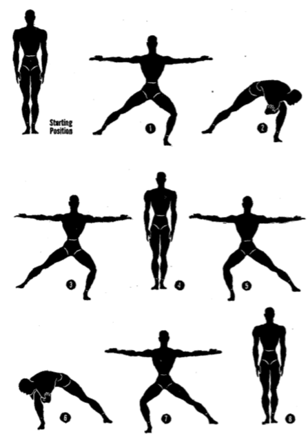 Army physical training Lunger.