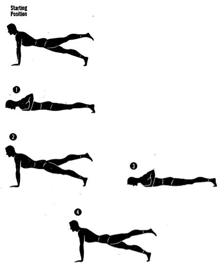 Army physical training one leg push up 3.
