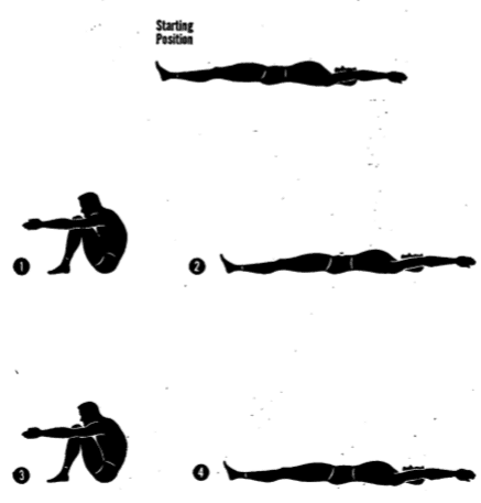 Army physical training Rowing exercise.