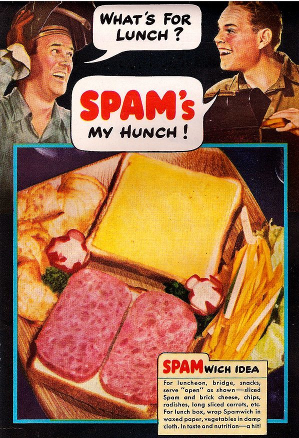 vintage spam ad advertisement spamwich