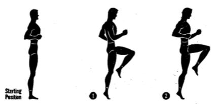 Army physical training Stationary run.