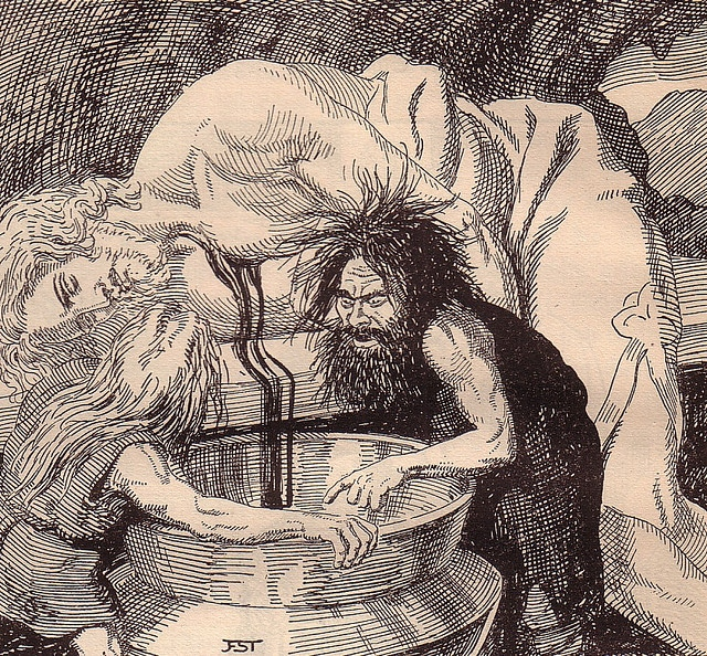 odin norse god at well of wisdom
