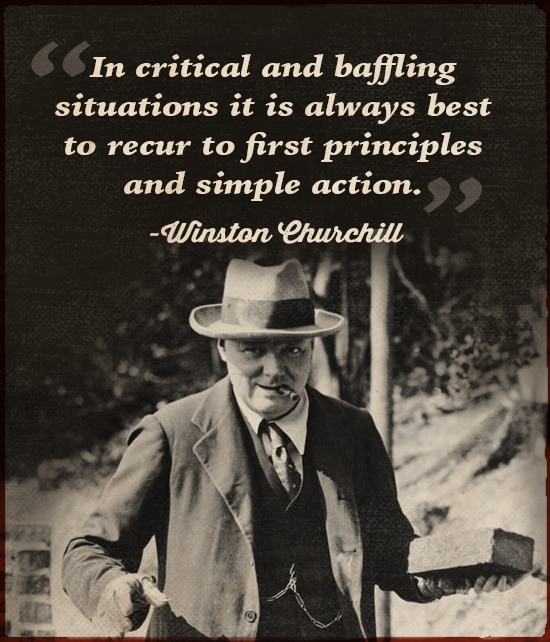winston churchill quote in critical and baffling situations