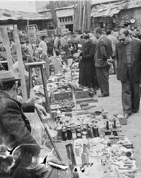 Flea Market, Athens, Greece - 1951
