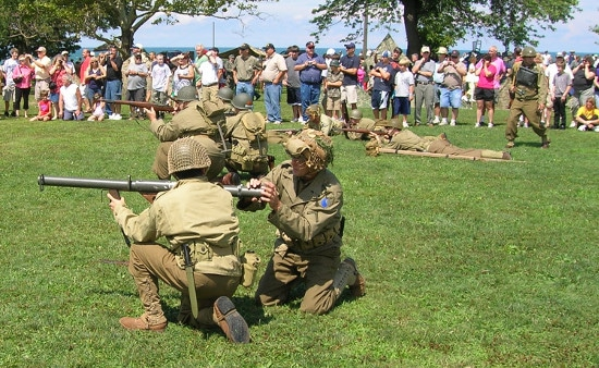 d-day wwii historical re-enactment in ohio