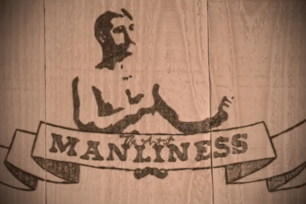 woodburning pyrography art of manliness logo