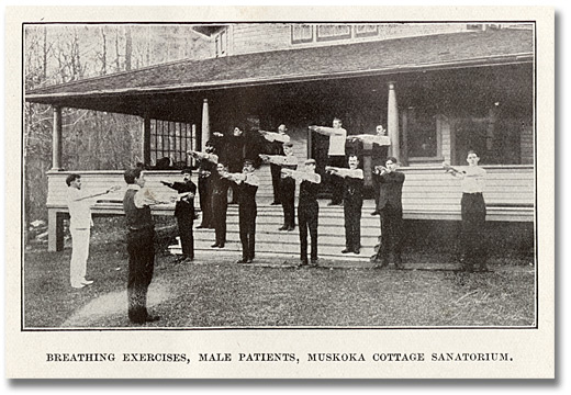 Vintage men physical training in school.