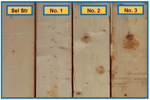 Collection of lumber wood quality.