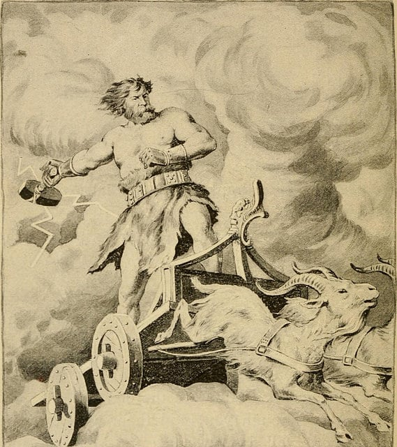 thor god of thunder and lightning
