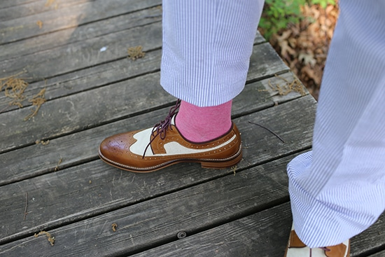 seersucker suit shoes and socks