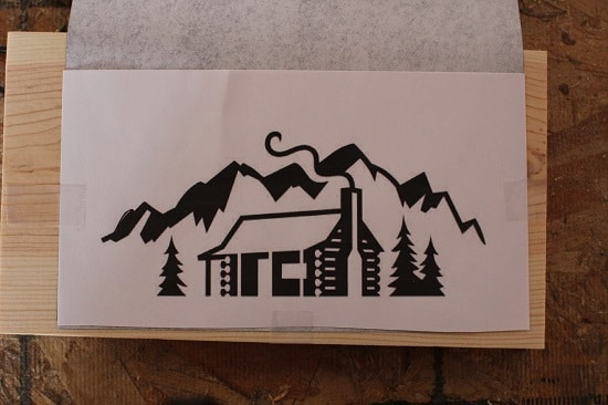 cabin in the mountains woodburning