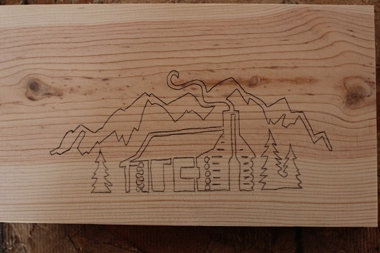 Woodburning tracing outline.