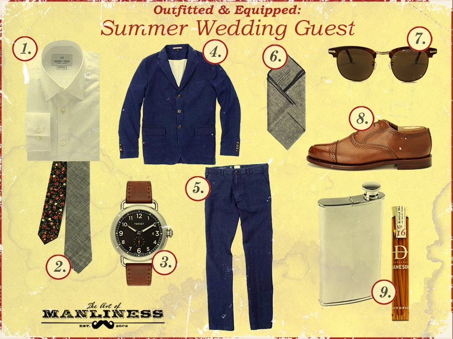 what to wear to a summer wedding blue navy suit