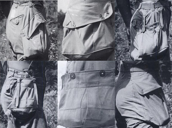 Wwii cargo pocket variations designs.