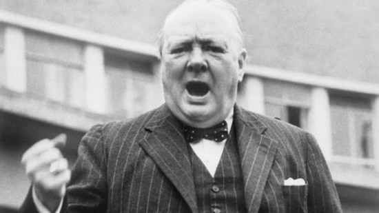 Winston churchill passionate speaking.