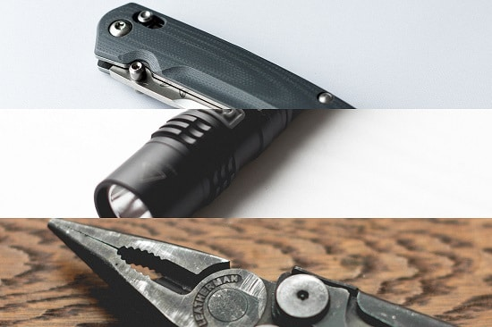 edc - knife flashlight bulb