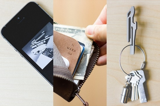 Edc - phone wallet keys.