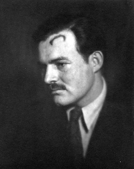 A scar head of Ernest Hemingway.