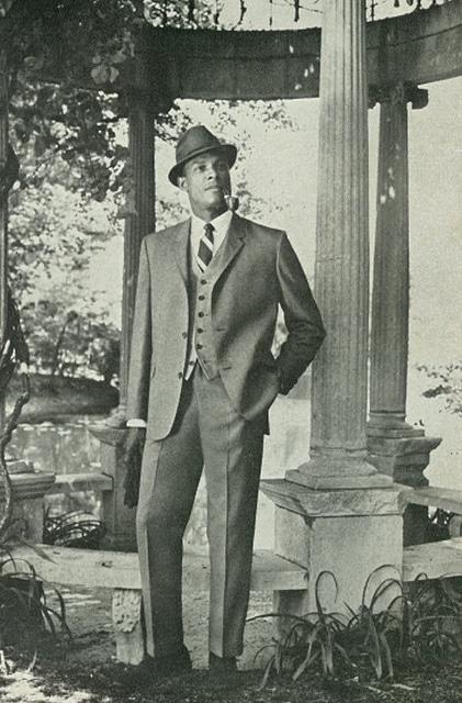 vintage african american black man wearing 3 piece suit